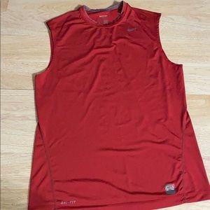Nike Pro Men's Red Sleeveless Top